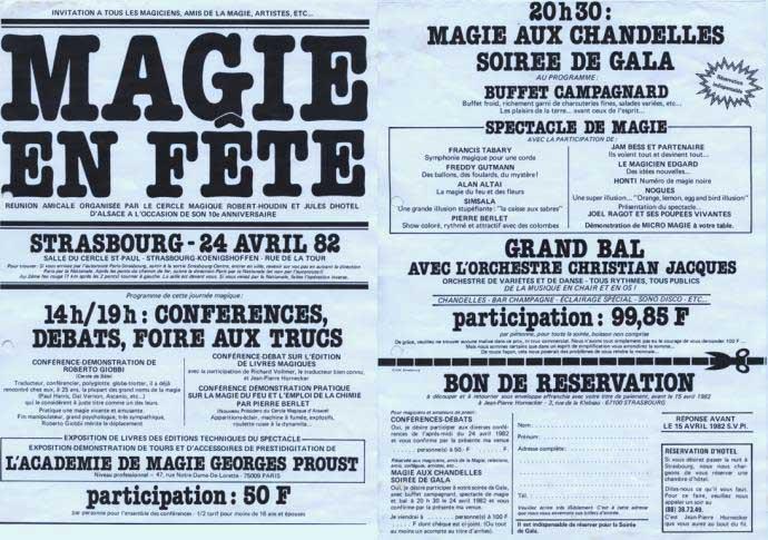 Affiche MAGIE EN FETE 1982 pour le 10eme Anniversaire du Cercle Magique d'Alsace