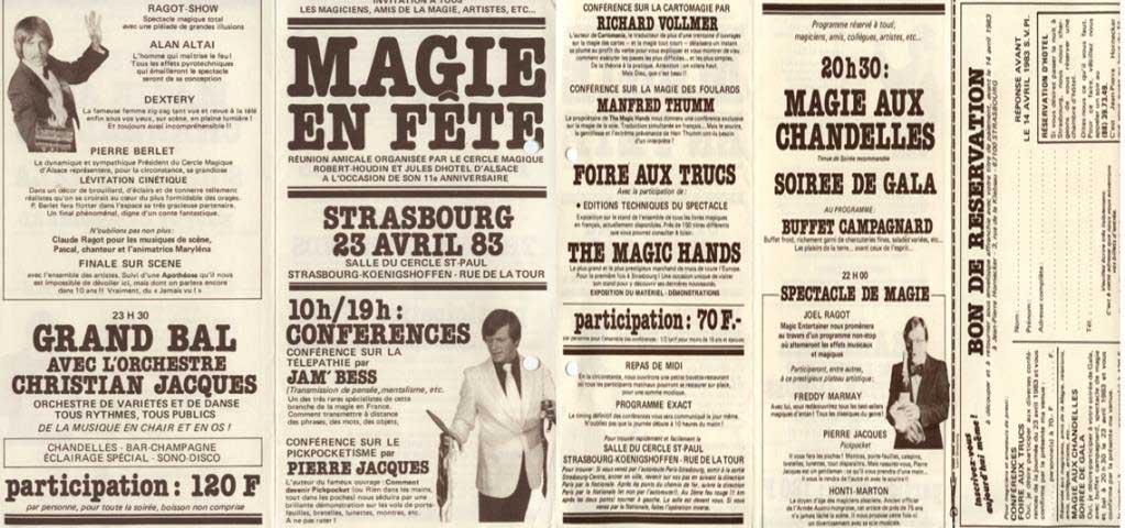 Dépliant publicitaire Magie en fête année 1983